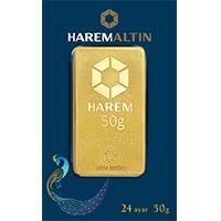 Harem Altın 50 Gram Külçe Altın
