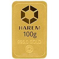 Harem Altın 100 Gram Külçe Altın